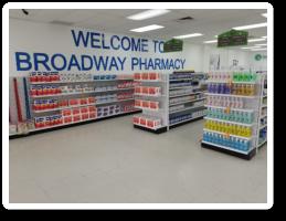 Medicines inside Broadway Pharmacy